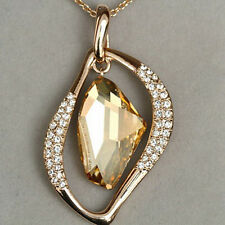 93.05CT 18K Rose Gold Plated Exquisite Crystal Pendant Necklace New Style MSD9