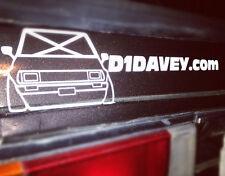 D1DAVEY white or black supporter stickers for drift corolla KE70 4AGTE JDMGirls