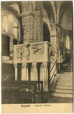 1932 Bellagio Interno Chiesa Gradini Arcate Altare Roosendaal FP B/N VG