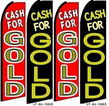 Cash For Gold Swooper Feather Flag Banner Sign Kits 4 Flags 2 Hardware Kits