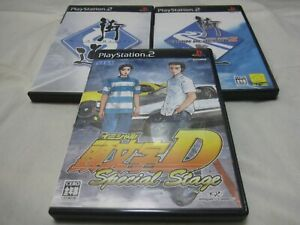 W/Tracking Number. PS2 Initial D Special Stage + Kaido Battle 1&2 3 Set Japanese