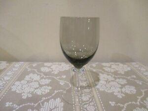 "Vtg. Smokey Gray Footed Wine Glass, MCM  5.5"" Tall/6 oz(1pc)"