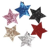 Star Shape Metal Children Snap Glitter Hair Clips Barrettes Girls Cute Hair SO