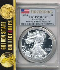 2017 S $1 PROOF SILVER EAGLE FROM LTD EDITION SET PCGS PR70 DCAM FIRST STRIKE
