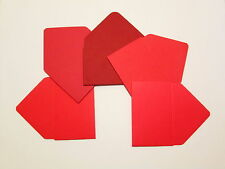 25 Red Gift Card Envelopes Mini Hand Made Business Card Holder 5 Shades of Red