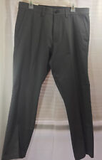 SALE Haggar Men's Dress Pants Charcoal Heather 34W x 30L Flat Front Slacks NEW