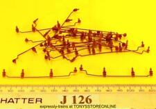 j126 jouef ho spares 20x roof insulator/cable assemblies brown