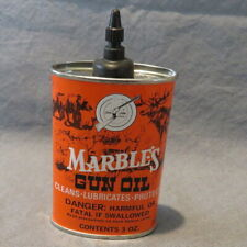 Vintage Marble's Gun Oil Tin Full /Unopened 3 oz.Can Cleaning Supplies Near Mint