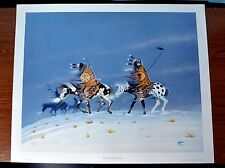 """RANCE HOOD """"Warriors Returning"""" Hand signed lithograph  Free FedEx Shipping"""