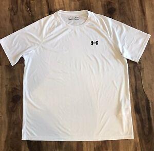 Under Armour Mens Black & White Loose Fit Shirt Sz L
