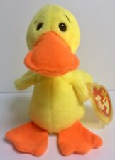 1993 TY Beanie Babies 'Quackers' Mint W/Errors & 'Yellow'💛Swing/Heart Tag Cover