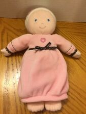 carters plush baby dolls Pink Soft My First Doll Long Dress Heart On Front 9""