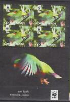 BIRD0046  - BIRDS COOK ISLANDS  2010 VINI KUHLII LORIKEET WWF SS MNH