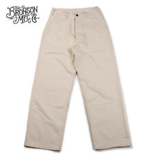Bronson 40s USN Deck Pants Vintage Men's HBT Fatigue Uniform Trouser High Rise