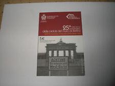 "5 euro BU argent SAINT MARIN 2014 "" 25 anniversaire mur Berlin """