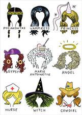 RSVP Nine Hair Styles  All About the Hair Funny Halloween Card