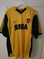 Vintage Arsenal Yellow Sega Men's Large L Football Shirt Top Nike 1999-2001