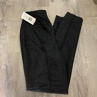 Harve Benard Sport Womens Pants Sz 8 Tall Charcoal Gray Trousers Career New AB82