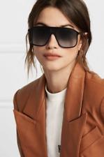 VICTORIA BECKHAM Flat Top 60mm D-Frame Navigator Sunglasses MSRP$425 Tortoise C