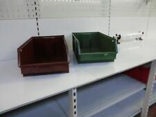 4 x Warehouse stockage bacs plastique Tools garage Étagère à outils Stock boîte