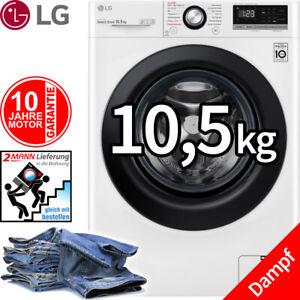 LG 10,5 kg Direktantrieb Waschmaschine Frontlader Dampf Funktion 1400 U/min NEU