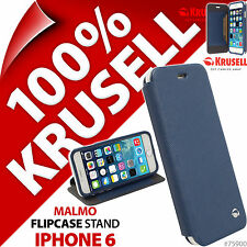 Krusell Malmo à clapet support étui pour Apple iPhone 6 Blue Housse