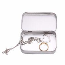 Small Metal Tin Silver Flip Storage Box Case Organizer For Money Coin Candy Keys