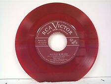 "MARIO LANZA ""BE MY LOVE / I'LL NEVER LOVE YOU"" 45 RED VINYL"