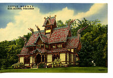 Little Norway-Unusual Home-Village in Blue Mounds-Wisconsin-Vintage Postcard