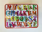 Vintage JSNY Alphabet Tin Container with lid Made in HONG KONG