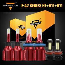 Auxbeam H1+H11 Hi/Lo LED Headlight Bulbs+H11 H8 Fog Kit for Ford Focus 2012-2018