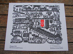 Commonwealth Games Glasgow 2014 XX Workforce Limited Edition Letter Press Print