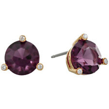2017 Nwt Kate Spade Rise And Shine Round Stud Earrings 38 Amethyst Purple