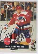 Autographed 91/92 Pro Set Calle Johansson - Capitals