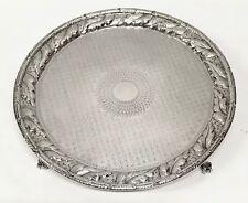 1846-1861 S Kirk & Son American Coin Silver Repousse footed Salver no mono