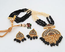 Earrings Traditional Bridal Jewelry Set Indian Bollywood Kundan Pendent Necklace