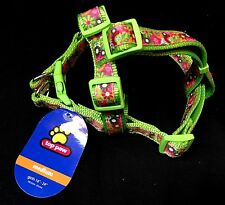 "Top Paw NEW New with Tags Green Floral Dog Harness Medium Girth 16"" -24"""