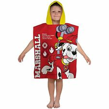 Boys Girls Kids Novelty Character Hooded Towel Poncho Swim Beach Bath Paw Patrol 1