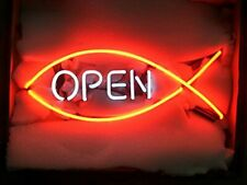 "Open Neon Lamp Sign 14""x6"" Acrylic Bright Lighting Bar Display Windows Shop Pub"