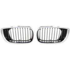 New Left & Right Hood-Mounted Grille Fits 2002-2005 Bmw 320i BM1200126 BM1200127