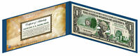 OKLAHOMA State $1 Bill *Genuine Legal Tender* U.S. One-Dollar Currency *Green*