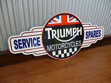 Trriumph service spares metal tin sign bar garage bar motorbike