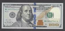 $100 FEDERAL RESERVE NOTE, SERIES 2013, DALLAS (MK36537541A), UNC