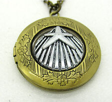 Bronze Star Shell Seashell Locket Pendant Necklace Photo Love Family Gift