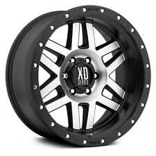 17 Inch Black Silver Wheels Rims Chevy Silverado 2500 3500 HD GMC Sierra Truck 4