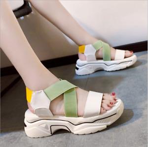 Ladies fashion sports sandals summer flat casual women's shoes beach shoes