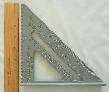 """7"""" Aluminum Speed Square - protractor - miter - framing"""