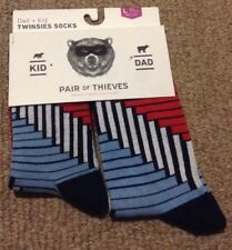 New Pair Of Thieves Twinsies Socks L For Kid & Dad (Kid's 9-12yrs &Men's 8-12)