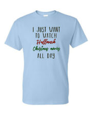 I Just Want To Watch Hallmark Christmas Movies All Day Funny Holiday Tee T-Shirt