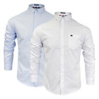Mens Brave Soul 100% Cotton Long Sleeved Button Neck Shirt NEW Sizes S-L